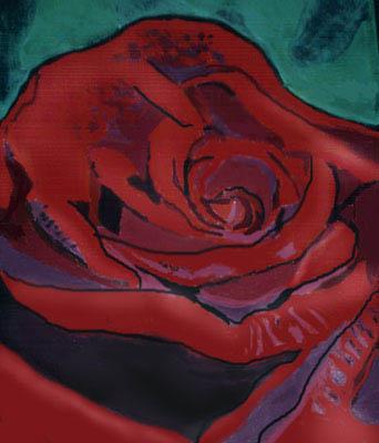 red rose, acrylic on canvas by JoreJj  Z. Elprehzleinn