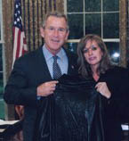 President Bush and Barbara Hirsh